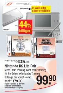 Nintendo DS Lite mit Spiel für 100€ bei Maximarkt Österreich