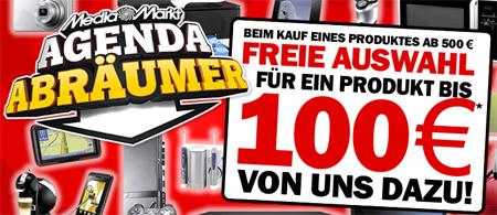 Media Markt Agenda - Beim Kauf eines Produktes ab 500€ gibts ein Produkt bis 100€ geschenkt