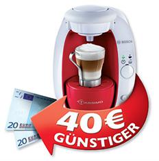 Bis zu 40€ Cashback beim Kauf von Bosch Tassimo Automaten