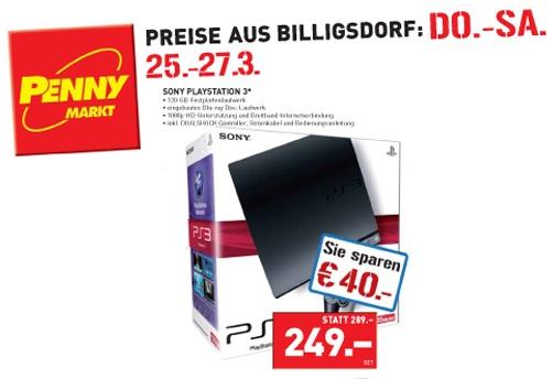 Playstation 3 Slim 120GB für 249€ bei Penny Österreich