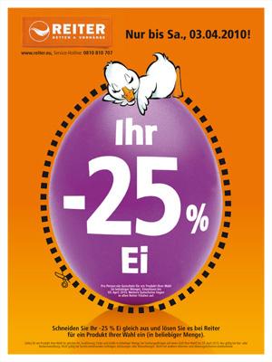 25% Rabatt auf alles mit Coupon @Reiter Betten & Vorhänge AT