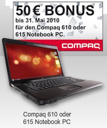 50€ Cashback für HP Compaq 610 und Compaq 615
