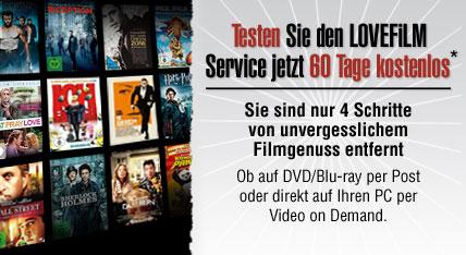 Neuer Lovefilm Gutschein: 2 Monate kostenlos DVDs und Blu-rays ausleihen! *Update* neuer Gutschein
