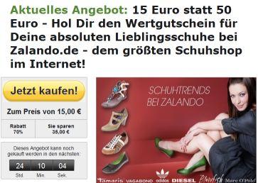 50€ Zalando-Wertgutschein für 15€ bei CityDeal *Update*