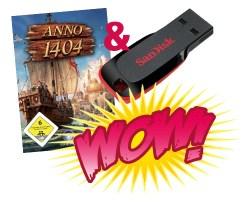 Anno 1404 (PC) OEM + 4GB SanDisk USB-Stick für 20€