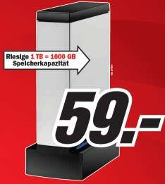 Neues Media Markt Prospekt online mit ext. 1TB Festplatte für 59€