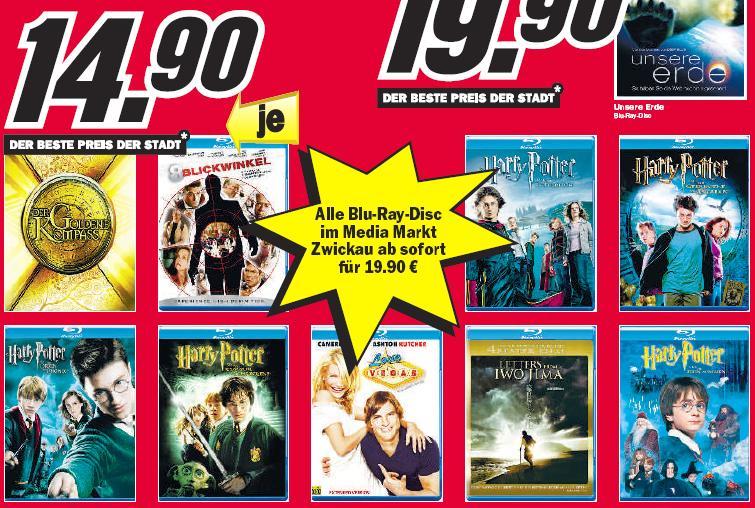 [Lokal] Blu-rays für 15€ im Media Markt Zwickau