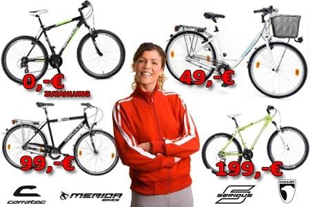200€ Fahrrad.de Gutschein für 99€ bei Citydeal - Fahrräder ab 120€ *Update* 100€ für 25€