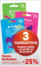 -25% auf iTunes Karten @Libro