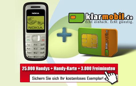 [Handy] Nokia 1200 mit 3000 Freiminuten für 2€