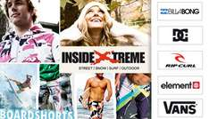 30€ InsideXtreme Gutschein für 12€ - Billabong, O-Neill und weitere Markenshirts ab 16€