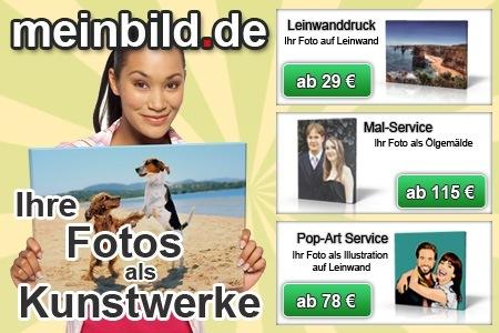 85€ Rabatt bei meinbild.de - Fotoleinwände ab 25€