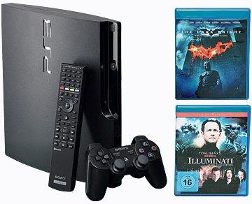 Hammer! Playstation 3 Slim mit Fernbedienung und zwei Blu-rays für 250€ *Udpate*