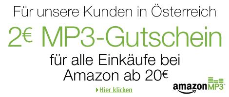 2€ MP3-Gutschein bei Einkauf über 20€ @Amazon Österreich