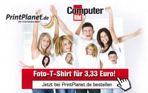 Computer Bild-Aktion: Selbst gestaltetes T-Shirt für nur 3,33€ *Update*