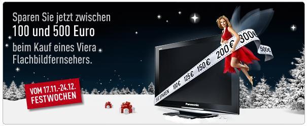 [Aktion] Bis 500€ Cashback für Panasonic VIERA Plasma TVs