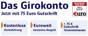 Kostenloses ING-DiBa Girokonto mit 75€ Prämie