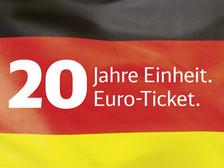 20 Jahre deutsche Einheit: Mit dem Einheitsticket der DB für 20€ durch Deutschland