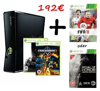 Hammer-Bunde bei Amazon UK: XBox 360 Slim + 3 Spiele kostenlos! *Update* Letze Chance?