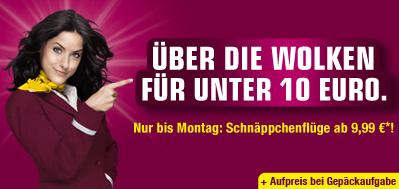 Germanwings - neue Schnäppchenflüge ab 9,99€ inkl. Steuern und Gebühren