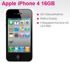 T-Mobile Vertrag mit iPhone 4 16GB mit Gutschein sehr günstig *Update* Läuft bald ab!