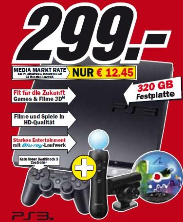 Wahnsinn! Playstation 3 Move Bundle + Start the Party bei Amazon für 299€!
