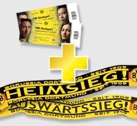 2x Sitzplatzkarten + Schal für Borussia Dortmund im Januar 2011 für 59€