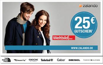 25€ Zalando Gutschein für 7,40€ bei Weltbild