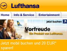 20€ Lufthansa Gutschein sichern - gültig bis 31.05.2011