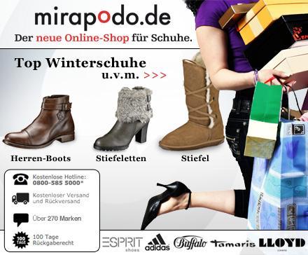 30€ Mirapodo Gutschein ab 3€ *UPDATE* nur noch bis 20 Uhr