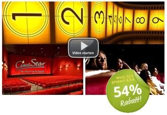 CineStar-Kinogutschein für 5,50€ (auch 3D-Filme und Überlänge enthalten)