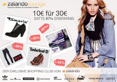 30€ Zalando-Lounge Gutschein für 10€