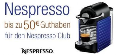 Nespresso Cashback 2011 - bis zu 50€ Guthaben beim Kauf einer Nespresso Maschine