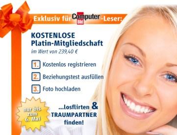 6 Monate lang gratis Friendscout24.de Platin-Mitglied - keine Bindung