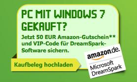 Microsoft Studentenaktion - 50€ Amazon Gutschein beim Kauf eines PCs mit Windows 7
