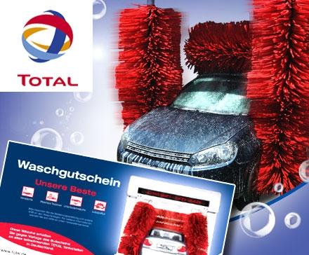 TOTAL Autowäsche inkl. Lotuspolitur für 7€