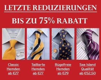 [Rabatte] Charles Tyrwhitt Sale - bis zu 75% auf Hemden und Anzüge!