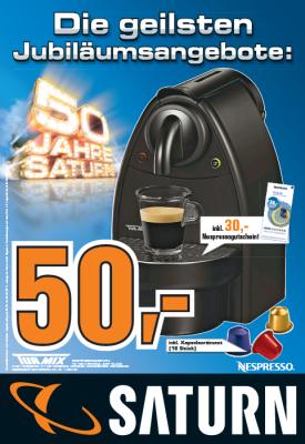 Turmix TX 100 Essenza für 50€ zzgl. 30€ Nespressogutschein @ Saturns Wien