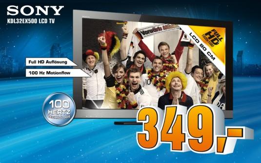 Sony KDL32EX500 für 349€ bei Saturn Deutschland (und die bessere Alternative)