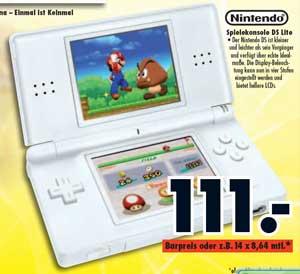 [NDS] Nintendo DS lite für 111€