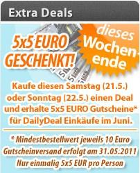 Daily Deal: 5x5 EUR Gutscheine beim Kauf eines Deals