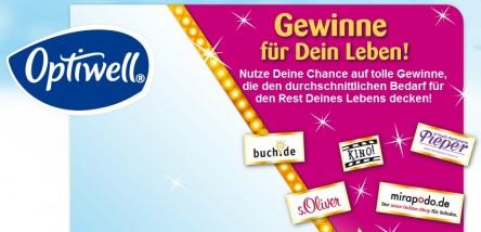 Gratis Gutscheine bei Optiwell: 15€ Mirapodo, 5€ buch.de…