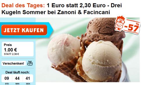 DEAL LX - Der neue Groupshopping-Dienst für Österreich (Aktueller Deal: 3 Kugeln Eis für 1€)
