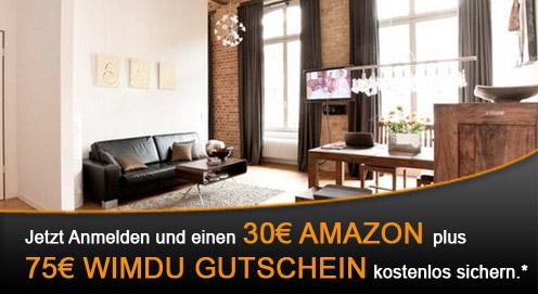 Wimdu ködert Neukunden mit 75€ Wimdu Gutschein + 30€ Amazon Gutschein