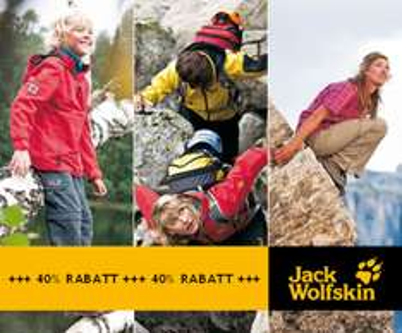 40% Rabatt auf Jack Wolfskin- und weitere Outdoor-Sortimente für 7,50€