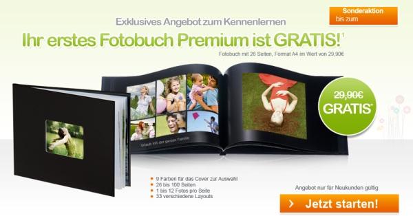 Hochwertiges Fotobuch (A4, 26 Seiten) für Neukunden nur 4,90€!