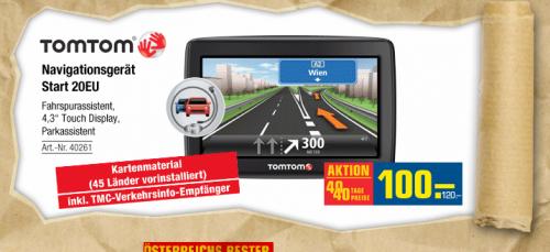 Nur am Montag: TomTom Start 20 EU für 120€ statt 153€