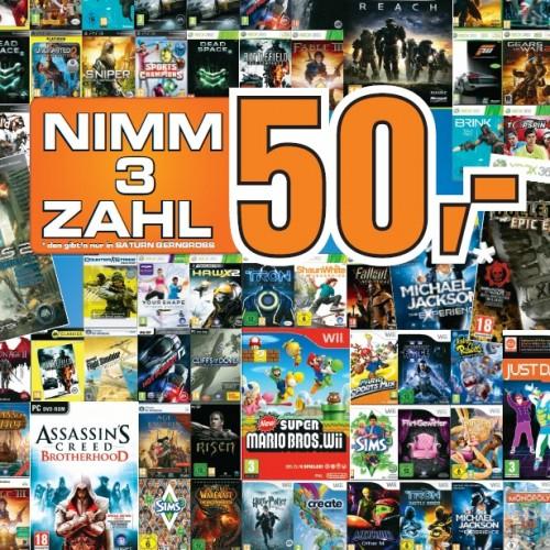 3 Games für 50€ bei Saturn Österreich!