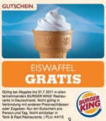 Coupons zum Ausdrucken: gratis Eiskaffee, gratis Eis und versch. 1+1 Spar-Gutscheine