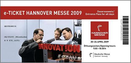 Kostenlose Tickets für die Hannover Messe 09